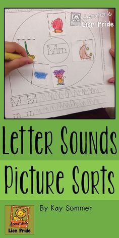 Letter sounds pictures sorts - Circle Sorts - perfect for Pre-K and K - great way to have students work on beginning letter sounds