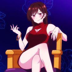 Kanojo Okarishimasu Chizuru Ichinose - More pics at AnimeShelter. Click to see them! (Screencap from episode 8) Emo Anime Girl, Anime Angel Girl, Kawaii Anime Girl, Anime Oc, Chica Anime Manga, Cute Anime Character, Character Art, Fille Anime Cool, Villainous Cartoon