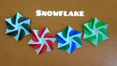 Origami Snowflake/ Paper 6-point Star for Christmas 折纸雪花 Paper Art, Paper Crafts, Origami Gifts, Paper Snowflakes, Christmas Star, Hanukkah, Lotus, Wreaths, Stars