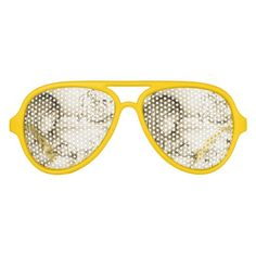 Vintage Carousel Dreams Aviator Party Shades by MoonDreams Music #aviatorpartyshades #babyshower #partyfavors #carouseldreams #vintage #yellow