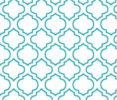 Moroccan pattern print fabric