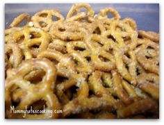 Seasoned Pretzels. My aunt used to own a restaurant, and they served these with everything. AMAZING.