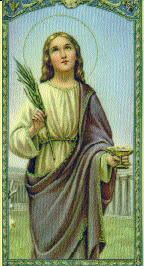 Saint Lucy of Syracuse, one of the early martyrs of the Church who preferred death to giving up a life consecrated to God