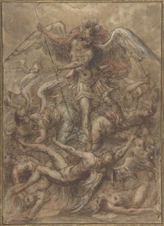 Saint Michael Expelling the Fallen Angels  Published 16th century