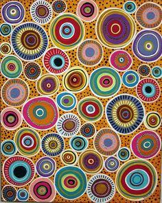 Circles Abstract Painting by Karla Gerard