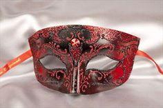 Mans Smart Masquerade Ball Mask - Smoking Black