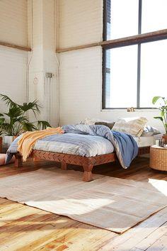 Eloisa Carved Wood Platform Bed