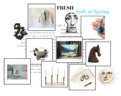 FRESH Spring by untried-shop on Polyvore featuring interior, interiors, interior design, home, home decor and interior decorating