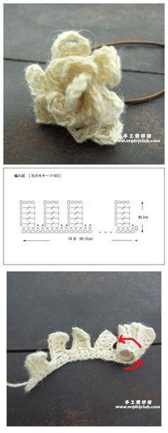 Crochet Rose - Chart ❥ 4U hilariafina  http://www.pinterest.com/hilariafina/