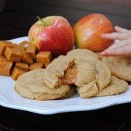 carmel stuffed apple cider cookies...for fall mmmmmm