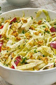 Spitzkohlsalat MAGGI recipe idea for spicy cabbage salad Mexican Salad Recipes, Cabbage Salad Recipes, Taco Salad Recipes, Hamburger Meat Recipes Ground, Dorito Taco Salad Recipe, Lime Chicken Tacos, Lentil Tacos, Healthy Tacos, Pasta
