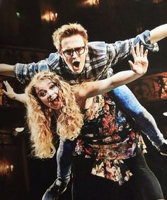 Carrie Hope Fletcher and Tom Fletcher-the dream sibling team! Perfect picture to start off this board Carrie Hope Fletcher, Tom Fletcher, Dougie Poynter, Dodie Clark, Phil Lester, Les Miserables, David Tennant, Role Models, Boy Bands