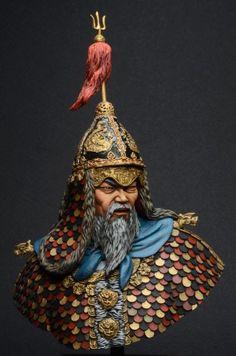 朝鮮將軍, General Cho-Son, (MIG Productions, bust ) : 네이버 블로그 Chinese Armor, Larp Armor, Korean Art, Medieval Fantasy, Military History, Figure Model, Oriental, Miniatures, Statue
