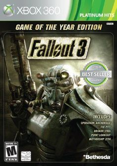 Fallout Game of The Year Edition (Xbox - - Fallout 3 Game of the Year Edition Take in the sights and sounds of the vast Capital Wasteland! See the great monuments of the United States lying i