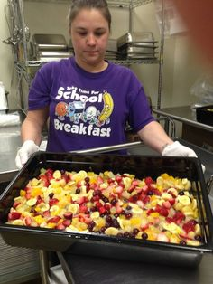 """We knew that the folks at HUSD Food and Nutrition were doing an awesome job when we chose them to be our #RealSchoolFood #DistrictoftheDay. We're sure that you will agree when you see the photos today ... THIS is #SchoolLunch in ARIZONA: """"Bradshaw Mountain Middle School sure knows how to make a beautiful fruit & vegetable bar. Mixed fruit salad will be just one of the several items on the menu today."""""""