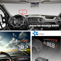 65.00$  Buy now - http://alifmp.shopchina.info/go.php?t=32789889352 - Car HUD Safe Drive Display For Renault Master 2010~2015 - Refkecting Windshield Head Up Display Screen Projector  #SHOPPING