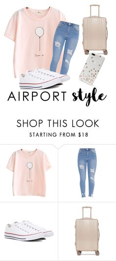 """Comfy & Cute"" by libbylee2004 ❤ liked on Polyvore featuring Converse, CalPak and Kate Spade"
