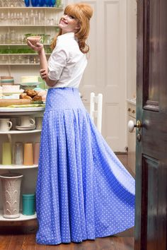 Shop for beautiful floor length maxi skirts perfect for fall online at Shabby Apple! Find vintage & retro style, modest clothing & cute accessories for women in a variety of styles & colors at www.shabbyapple.com.