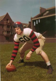 """""""The Penn Football program joins the entire football community in mourning the passing of Chuck Bednarik this morning. Football Program, College Football, Ronald Mcdonald, Pennsylvania, Character, Lettering"""