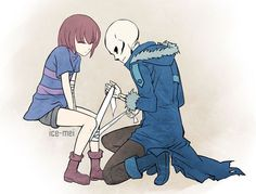 Frisk and Sans from Undertale