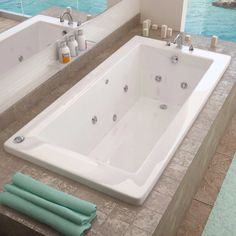 Access Tubs Venetian Dual System Bathtub, Whirlpool & Air Massage Therapy