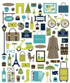 Parisienne = {vin, scoot, vélo, métro, parapluie, café, musée}