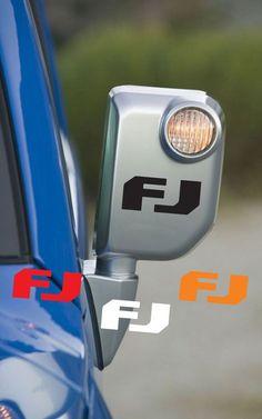 2 pcs (pair) FJ Vinyl Mirror Decals Sticker for Toyota FJ Cruiser #3M