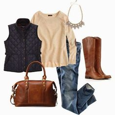 love the mix of brown and black with jens....Adorable Fall Outfit Combination For Women