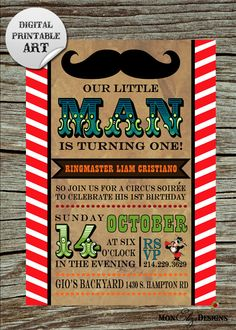 vintage circus themed party | Vintage Circus Soiree Theme Birthday Party by MonElizaDesigns