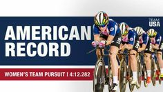 ❗️AMERICAN RECORD ALERT ❗️  USA Cycling women's team pursuit broke a record AND will compete for #GOLD tonight!