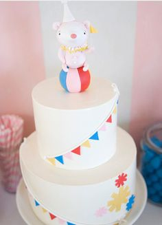 simple circus cake... maybe do stars in party colors