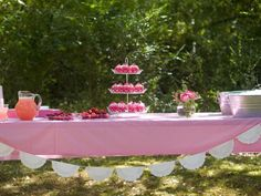 Beautiful Pink Outdoor Party Decorations