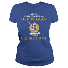 OLD WOMAN WITH A CRICKET BAT