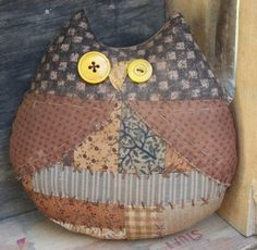 Primitive Patchwork Rustic Owl Ornie Bowl Filler by thewoodedlake, $12.35