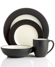 Noritake Dinnerware, Colorwave Graphite Rim Collection..registry