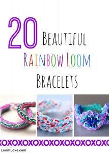 rainbow loom bracelets on Loom Love - lots of patterns