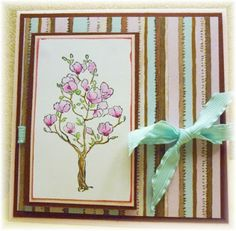 Prickley Pear Rubber Stamps:  HH0134 Flowering Tree