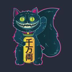 Awesome 'The+Cheshire+Maneki-Neko' design on TeePublic!