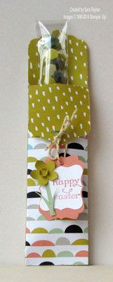 Easter or St David's Day tag topper treat using Stampin' Up! supplies. #stampinup