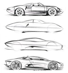 Jaguar XJ13 V12 (1966) - Jaguar C-X75 Concept (2010) Interesting to see the evolution.