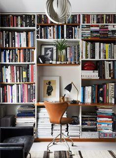 workspace decor, office design, office decor, home office Home Libraries, Scandinavian Home, Scandinavian Architecture, Architecture Design, Home Office Decor, Office Desk, Office Chairs, Lawyer Office, Home Decor Ideas