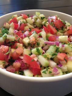 Caspian Kabob's Shirazi Salad #portland #foodtruck