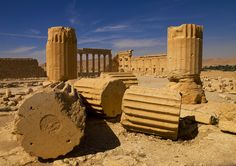 Temple Of Bel In The Ancient Roman city of Palmyra, Syria | The site of Palmyra is an oasis in the Syrian desert, north-east of Damascus, it contains the monumental ruins of a great city that was one of the most important cultural centres of the ancient world, Palmyra mixed Graeco-Roman techniques with local traditions and Persian influences, it was listed UNESCO World Heritage in 1980 © Eric Lafforgue  www.ericlafforgue.com
