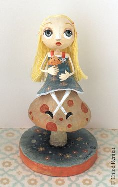 Alice on a fungus OOAK DOLL by chloeremiat on Etsy