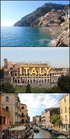 10 days in Italy, the perfect first timer's itinerary. Places to see include Rome, Venice, Naples and the Amalfi Coast.
