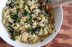 Fennel, Chiles, and Mint with Orzo   Lattes & Leggings