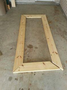 Diy floor mirror frame base paint flat white diy floor mirror diy floor mirror framing solutioingenieria Choice Image