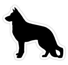 German Shepherd Dog Silhouette Waterproof Die-Cut Sticker
