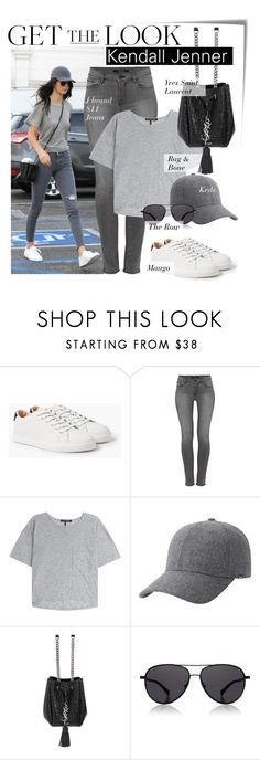"""Celebrity Look - Kendall Jenner"" by monmondefou ❤ liked on Polyvore featuring Post-It, MANGO, J Brand, rag & bone, Keds, Yves Saint Laurent, The Row, celebrity, CelebrityLook and kendalljenner"
