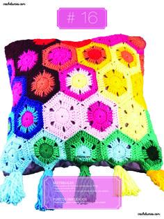 Crochet Almohadones #16 Blanket, Pillow Design, Dots, Blankets, Cover, Comforters